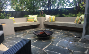 Perth landscaping team Platinum Outdoors timber benches to extend your living space